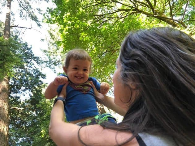 Thais Freitas holding Eli in a forest.19 things I learned in 2019.Thais Freitas