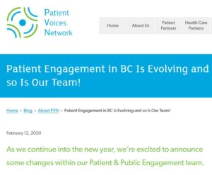 PVN Team blog post.Patient Voices Network