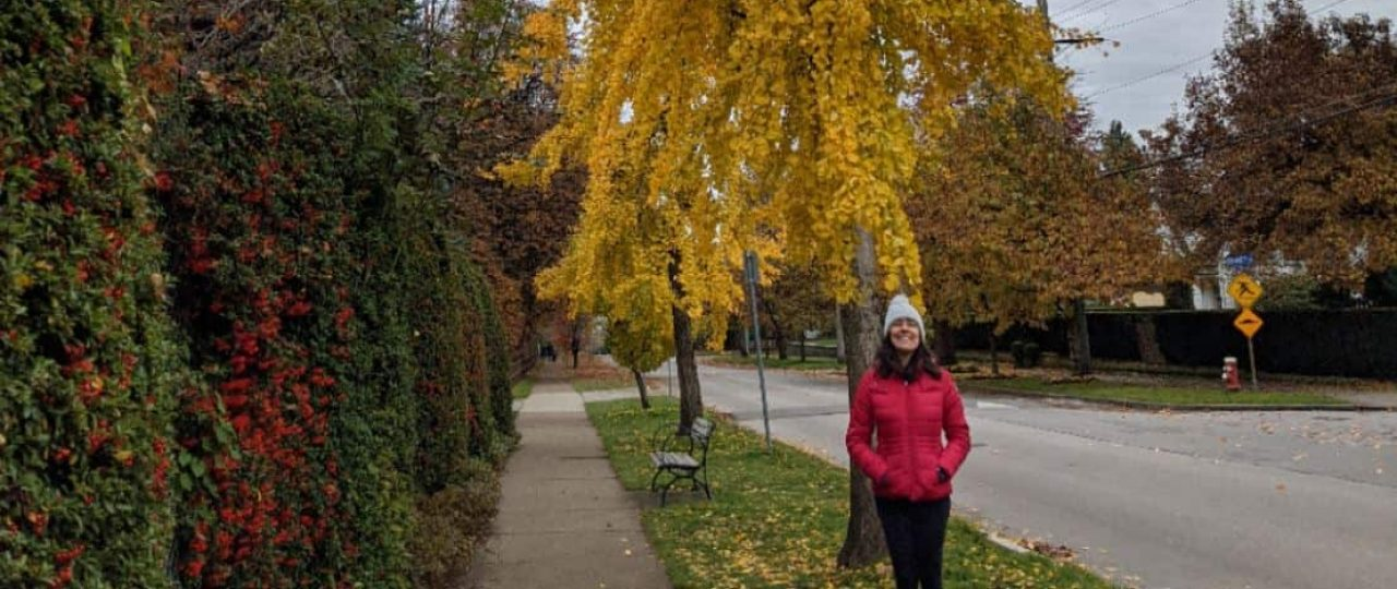 Thais Freitas at Queens Park in New Westminster BC in November 2020